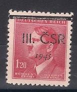 1945 Revolutionary Local Stamp  - Nove Mesto Na Morave -  MNG - Czechoslovakia