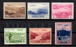 Montenegro Occupation Italienne Poste Aérienne YT N° 22/27 Neufs ** MNH. B/TB. A Saisir!
