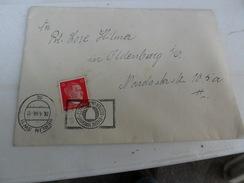 TERZO  REICH  BUSTA ANNULLO TARGHETTA 1944 - Storia Postale