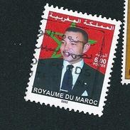N° 1286 Mohamed VI   TIMBRE Maroc (2002) Oblitéré