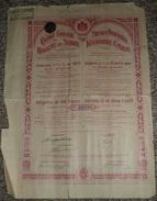 Royaume De SERBIE Emprunt 4 1/2 %, Obligation 500 Francs 1911, Titre/Récépissé/Action/Bon - Actions & Titres