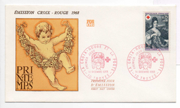 - FRANCE - FDC TROYES 14.12.1968 - EMISSION CROIX-ROUGE - PRINTEMPS -