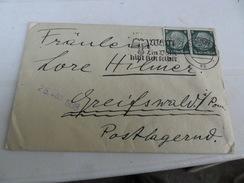 TERZO  REICH  BUSTA ANNULLO TARGHETTA 1938 Con Manoscritto - Storia Postale