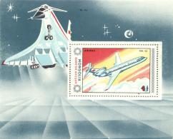 Mongolia 1984 Mi. Block 102 MNH, Airplane Avion Yak 42, Illustration Concorde
