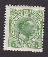 Danish West Indies, Scott #51, Mint Hinged, Christian X, Issued 1915