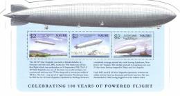 Nauru 2003 Mi. Block 37 MNH, 100 Year Aviation, Airships, Zeppelin, Mount Fuji, San Francisco, Ice Breaker