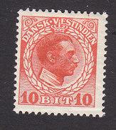 Danish West Indies, Scott #52, Mint Hinged, Christian X, Issued 1915