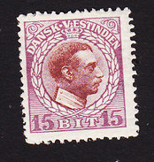 Danish West Indies, Scott #53, Mint Hinged, Christian X, Issued 1915