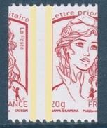 Ciappa TVP Rouge 20g De Roulette YT 4779 Piquage à Cheval Latéral Sans Numéro Au Verso . Rare , Voir Le Scan .
