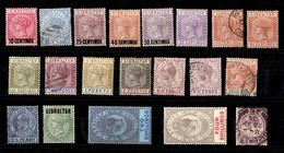 Gibraltar Belle Petite Collection D'anciens Neufs Et Oblitérés 11886/1919. Bonnes Valeurs. B/TB. A Saisir!