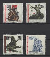 RUSSIE . YT 2983/2986 Neuf ** 60e Anniversaire De La Révolution De 1905.  1965