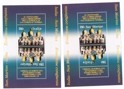 Italia 1994 Basilica Di S. Marco - 4 X £. 750 - 2 Foglietti Interi Nuovi** Integri