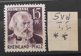 Rheinland-Pfalz 5vwI** Siehe Beschreibung - Zona Francese