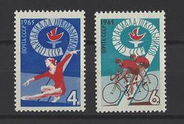 RUSSIE . YT 2999/3000 Neuf ** 9e Spartakiades Scolaires 1965
