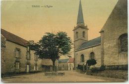 DEP 56 THEIX EGLISE BELLE CARTE TOILEE - Altri Comuni
