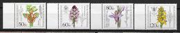 """Allemagne : Série """"Fleurs""""  N° 1058 à 1061 **  (cote 9.00) TB"""