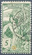 UPU 77A, 5 Rp.grün  SAIGNELEGIER  (schwacher Druck)       1900