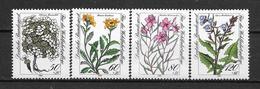 """Allemagne : Série """"Fleurs""""  N° 1020 à 1023 **  (cote 8.00) TB"""