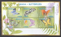 SS163 GHANA FAUNA BUTTERFLIES 1KB MNH