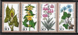 """Allemagne : Série """"Fleurs""""  N° 829 à 832 **  (cote 4.00) TB"""