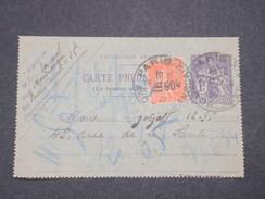 FRANCE - Carte Lettre Pneumatique De Paris + Complément Semeuse ( Variété Surcharge Déplacée ) En 1927 - L 7831