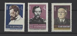 RUSSIE . YT 3014/3016 Neuf ** Anniversaires 1965