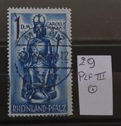 Rheinland-Pfalz 29PLFIII ZentriStempel Mainz  Siehe Beschreibung