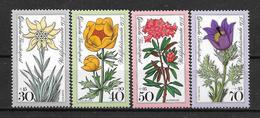 """Allemagne : Série """"Fleurs""""  N° 716 à 720 **  (cote 5.00) TB"""