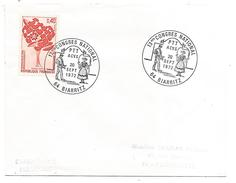OBLITERATION CONGRES NATIONAL ACVG PTT à BIARRITZ 1972 - Postmark Collection (Covers)