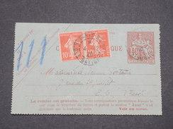FRANCE - Carte Lettre Pneumatique De Paris + Complément Semeuses  En 1920 - L 7833