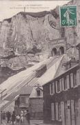 CPA Carte Postale LE TREPORT (76) Le Funiculaire De Tréport Terrasse N°1bis - Le Treport