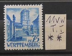 Württemberg 11vw I **  Siehe Beschreibung