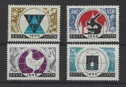 RUSSIE . YT 3056/3059 Neuf ** Congrès Divers 1960