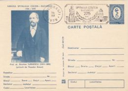 60583- NICOLAE TURNESCU, BUCHAREST COLTEA HOSPITAL, MEDICINE, HEALTH, POSTCARD STATIONERY, 1979, ROMANIA