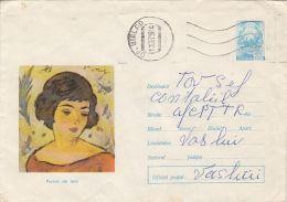 60622- NICOLAE TONITZA- HEAD OF A GIRL, PAINTINGS, COVER STATIONERY, 1973, ROMANIA