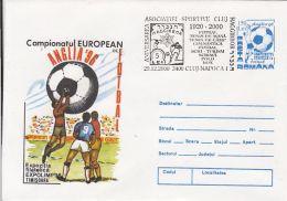 60707- ENGLAND'96 EUROPEAN SOCCER CHAMPIONSHIP, COVER STATIONERY, 2000, ROMANIA
