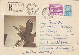 60770- GOLDEN EAGLE, BIRDS, REGISTERED COVER STATIONERY, 1971, ROMANIA - Aigles & Rapaces Diurnes