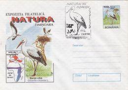 60778- WHITE STORK, BIRDS, COVER STATIONERY, 1998, ROMANIA