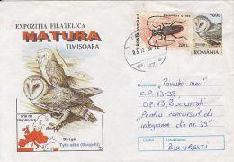 60788- BARN OWL, BIRDS, COVER STATIONERY, 1998, ROMANIA