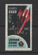 RUSSIE . YT 3064 Neuf ** Atterrisssage De Luna IX Sur La Lune . Timbre Surchargé 1966