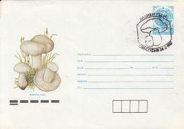 60840- MUSHROOMS, COVER STATIONERY, 1987, BULGARIA
