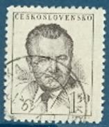 Tschechoslowakei Mi. 552 + 555 + 740 Gest. Präsident Gottwald