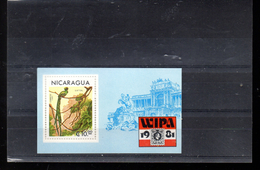 NICARAGUA BLOC 145** SUR UN OISEAU POUR L EXPO WIPA 1981