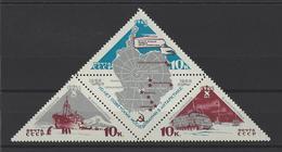 RUSSIE . YT 3065/3067  Neuf ** 10e Anniversaire De L'exploration De Antarctique  1966