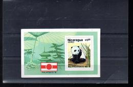 NICARAGUA BLOC 148** SUR UN PANDA POUR L EXPO PHILATOKYO 81