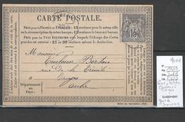 Lettre Cachet Convoyeur Station Chalons à Troyes - Gare De SOMMESOUS  - Marne - Railway Post
