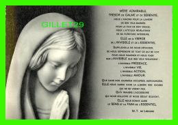 RELIGIONS - LA VIERGE =CHAPELLE DE LA MÉDAILLE MIRACULEUSE -  PRIÈRE - FILLES DE LA CHARITÉ DE SAINT VINCENT DE PAUL - - Vierge Marie & Madones