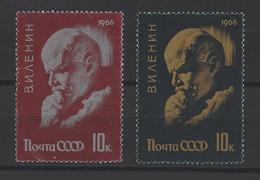 RUSSIE . YT 3078/3079 Neuf ** 96e Anniversaire De La Naissance De Lénine 1966