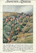 """Cartolina """"Domenica Del Corriere, N.48 2-9 Dic.1917"""" Disegno A. Beltrame """"Ordine Del Giorno Diaz"""" Assoc. """"Ragazzi '99"""" - Patriotic"""