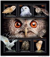 AZERBAIJAN 2017 ** Owls Eulen Hiboux M/S - PERSONALIZED - DH1717